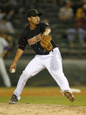 Junior right-hander Hever Bueno of Mesa will be one of the keys to ASU's pitching success this season.