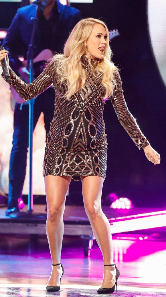 Carrie Underwood performs at the 2018 CMT Artists of