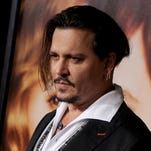 Johnny Depp appears at the London premiere of 'Black Mass' on Oct. 11.