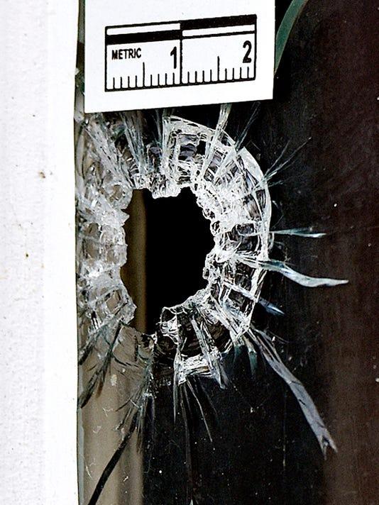 LOGO bullet hole