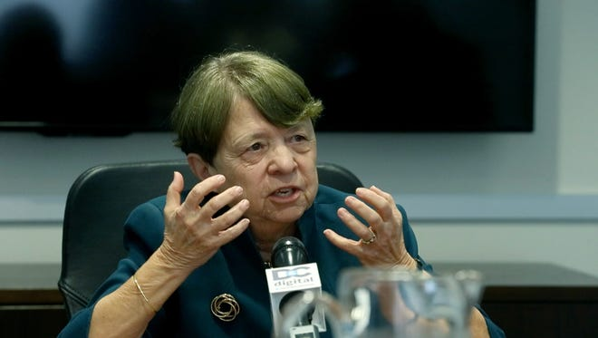 Former US Attorney Mary Jo White talks to the Democrat and Chronicle Editorial Board.