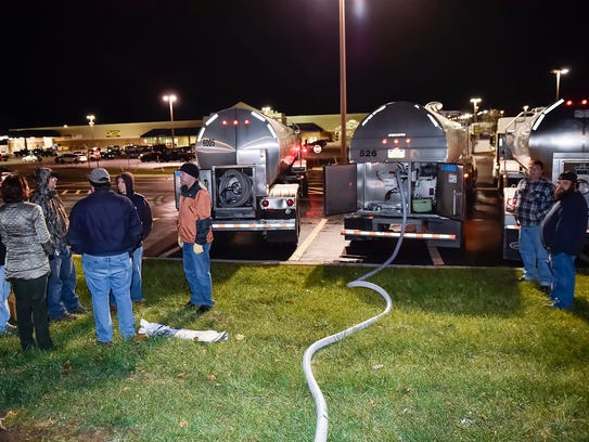 The Borough of Chambersburg fills up water tankers