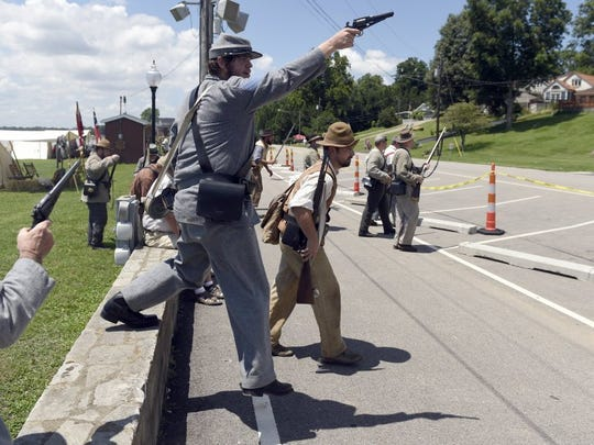 "Confederate soldiers ""raid"" Union soldiers last year"