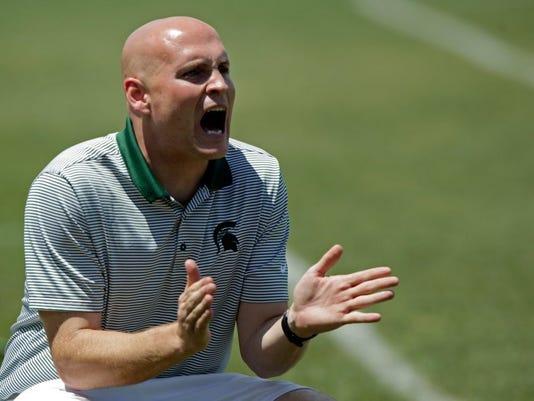 Webb School soccer coach Jared Ziegler