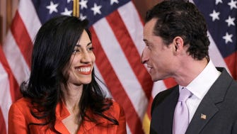 Anthony Weiner and Huma Abedin in 2011.