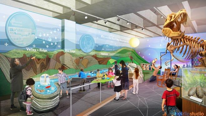 Haizlip Studio's rendering of the new Asheville Museum of Science.