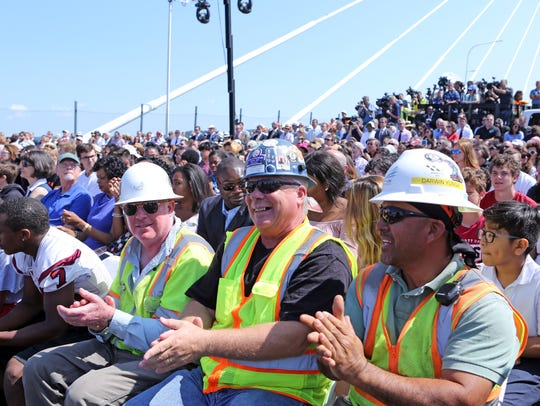 Bridge workers were among the guests that attended