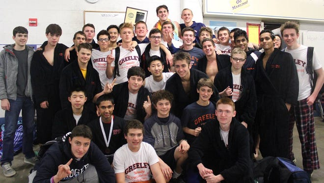 Horace Greeley's boys swimming team won the Conference I, League A championship on Saturday.