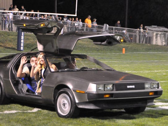 "It was ""Back to the Future"" as a Delorean cruises down"