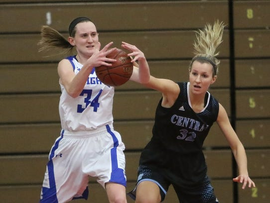 Brookfield Central's Ellery Nordling attempts to steal