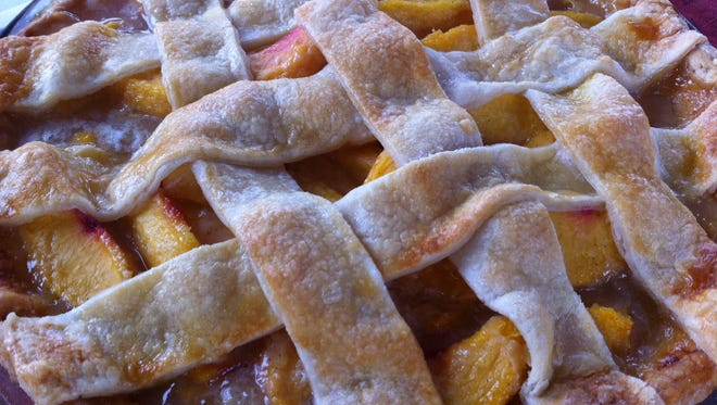 A latticed peach pie was a contender in last year's Peach Pie Contest at the Collingswood Farmer's Market.