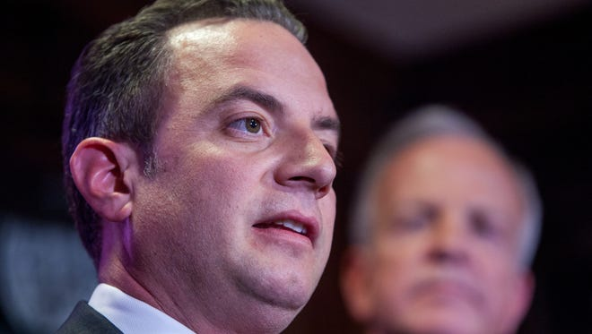 Republican National Committee Chairman Reince Priebus at a press conference in 2014.