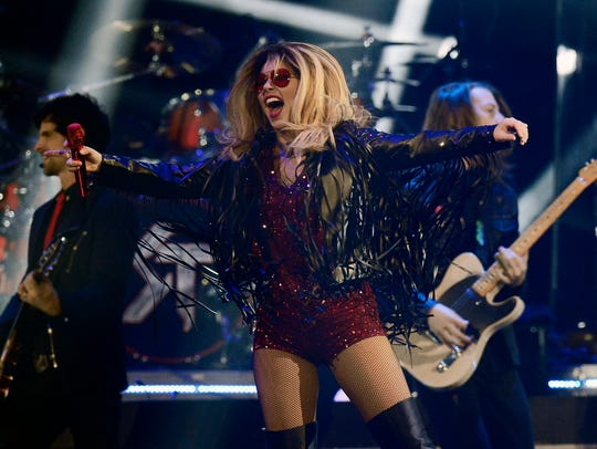 Singer-songwriter Shania Twain performs in 2015 at