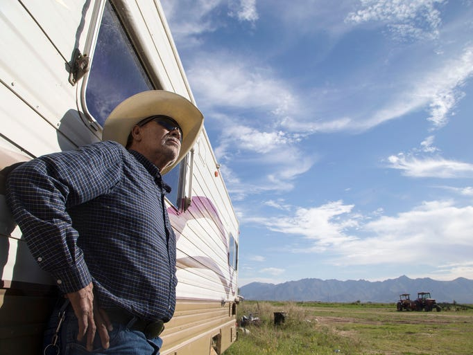 Ramiro Navarro, a farmer who lives on Dobbins Road,