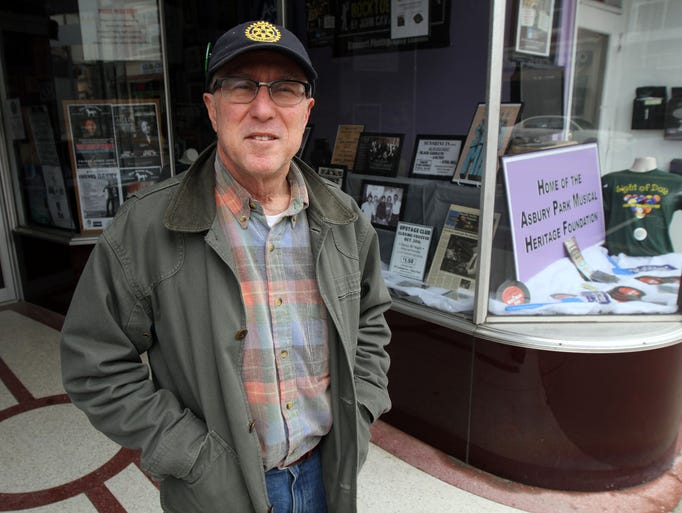 "Tom Gilmour stands outside the ""Where Music Lives"""