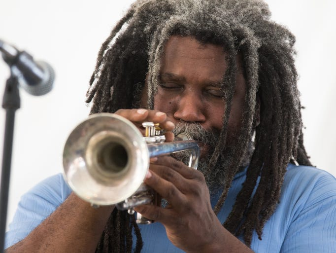 Jeff Lofton performs at the 56th Annual Texas Jazz