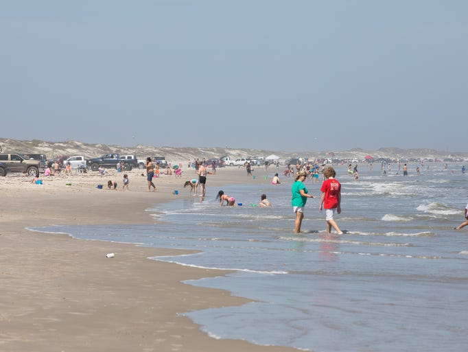 JP Luby beach during spring break on Friday, March