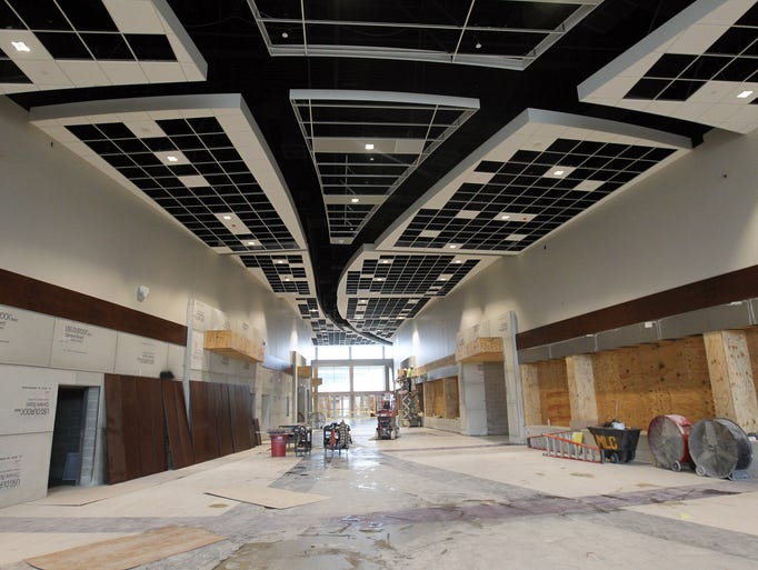 Liberty High's main lobby is pictured on Thursday,