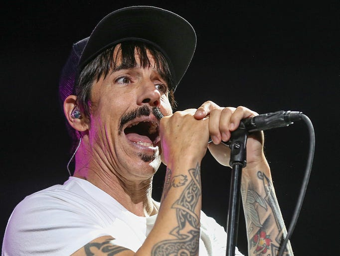 Singer Anthony Kiedis performs with the Red Hot Chili