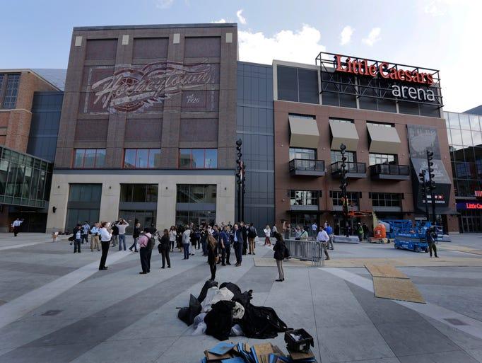 Chevrolet Plaza at Little Caesars Arena in Detroit