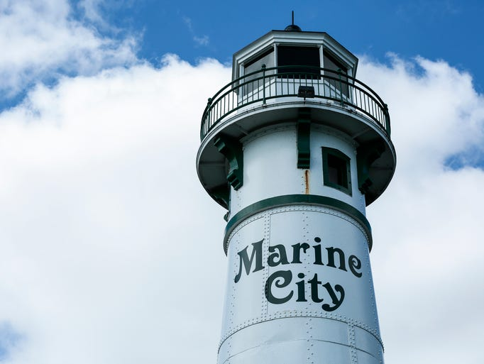 The lighthouse in Marine City, Saturday, September