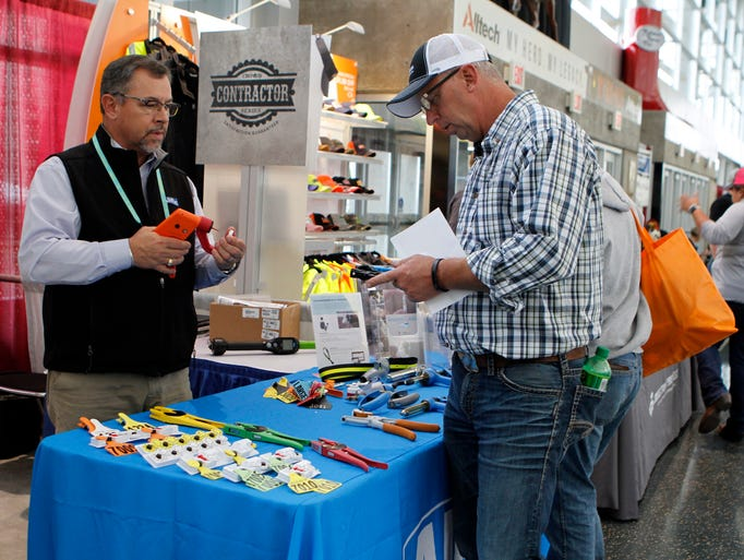 Hundreds of vendors were on hand displaying their ware