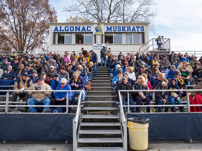 Fans fill the crowd before the MHSAA division 5 championship