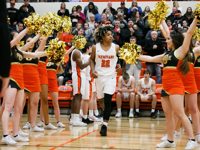 Sprague's Jailen Hammer (22) takes to the court for
