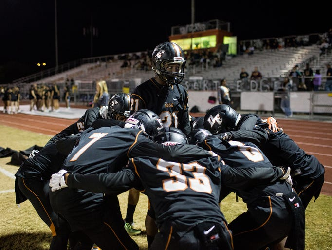 desert edge football 6 days ago  members of the salpointe catholic varsity football team warm up on the field  before a game against desert edge at salpointe catholic high.