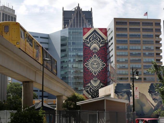 Detroit street art explodes for Enjoy detroit mural
