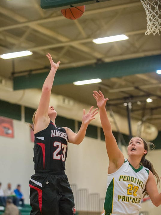 Marshall at Pennfield Girls Basketball