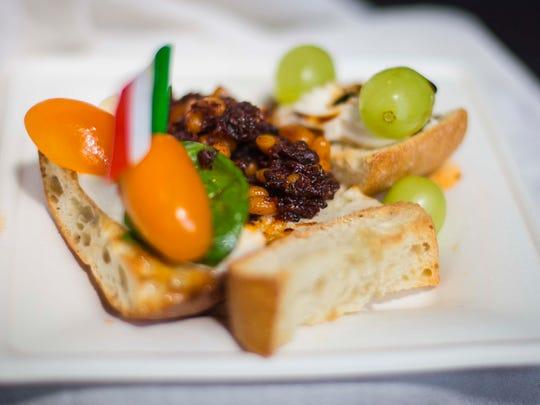 """BRUSCHETTA SUNDAE """"MT. VESUVIUS"""" - A threesome of culinary"""