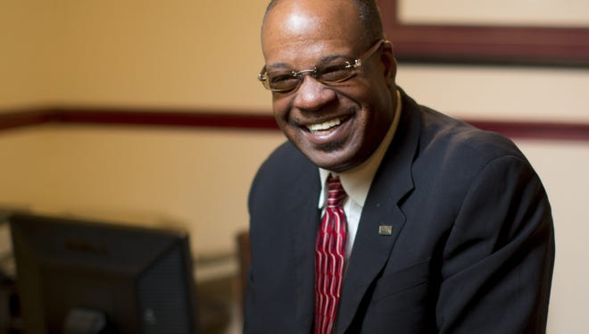 """Businessman and pastor Ennis Fant at his office in Greenville, S.C. Small businesses have been one of the backbones of economic growth since the end of slavery, starting in places like """"Black Wall Street"""" in Oklahoma and Harlem."""