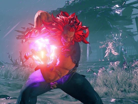Series antagonist Akuma returns to terrorize his opponents with his powerful energy blasts.