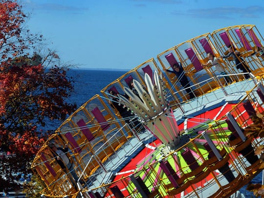 This carnival ride overlooking the bay of Green Bay was one of many activities available at last year's Pumpkin Patch in Egg Harbor.