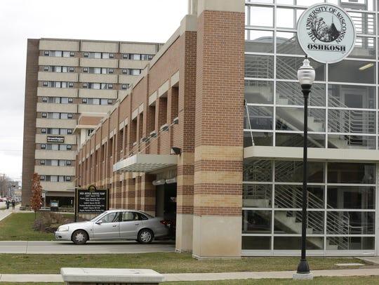 The UW-Oshkosh parking garage has about 448 parking