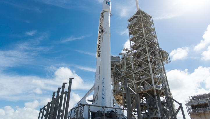 A Falcon 9 rocket carrying the U.S. National Reconnaissance