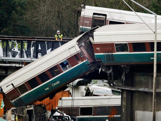 AP TRAIN DERAILMENT WASHINGTON STATE A USA WA