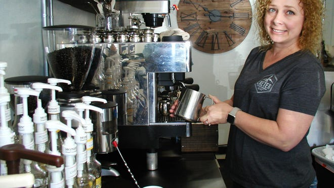 Staci Welch is owner and a barista at Exeter Coffee Company, which opened four months ago.