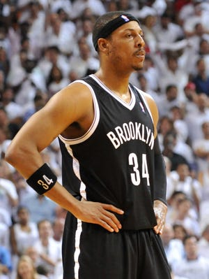 Paul Pierce averaged a career-low 13.5 points a game during his one season in Brooklyn.