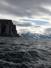 Scott Inlet — across Baffin Bay from Greenland, viewed August 16, 2013 from the sailing yacht DAX during Martin Sigge's attempt of the Northwest Passage.