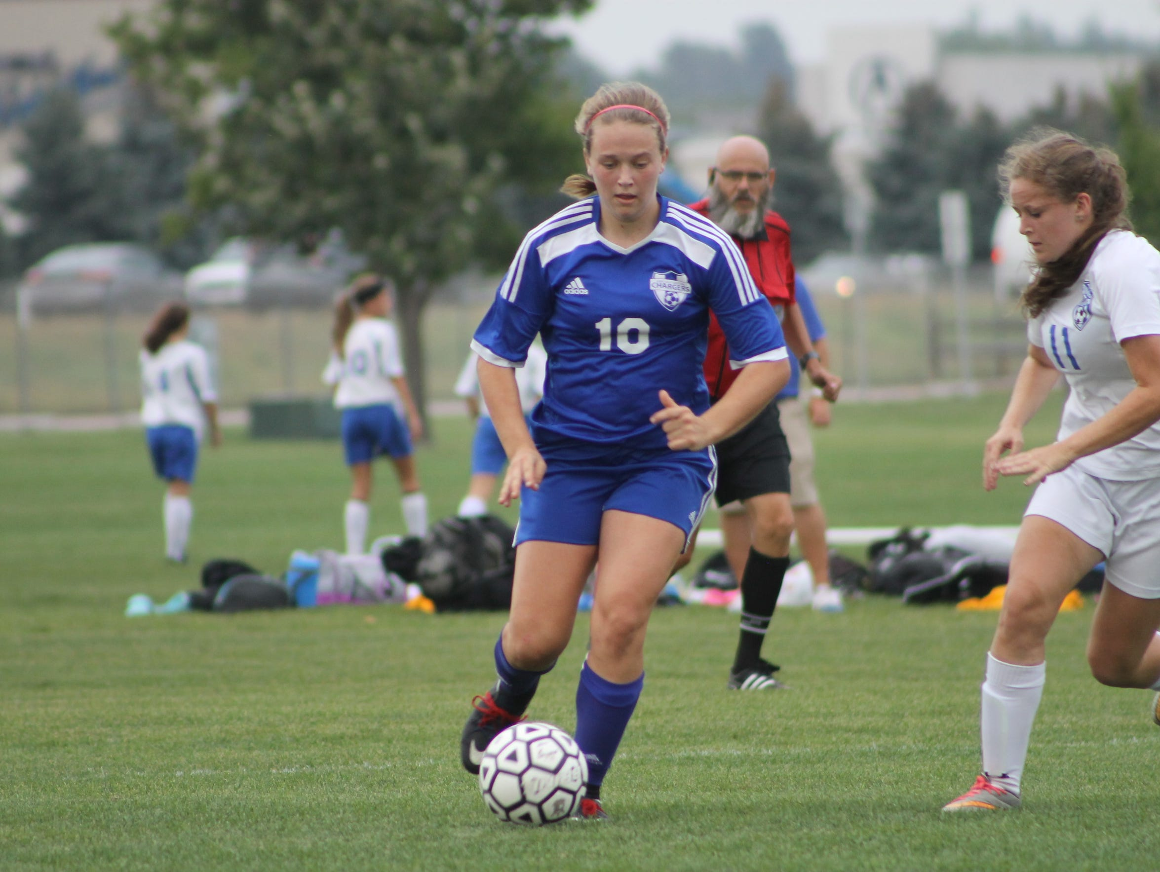 Ellie Schock of Sioux Falls Christian sustained a concussion