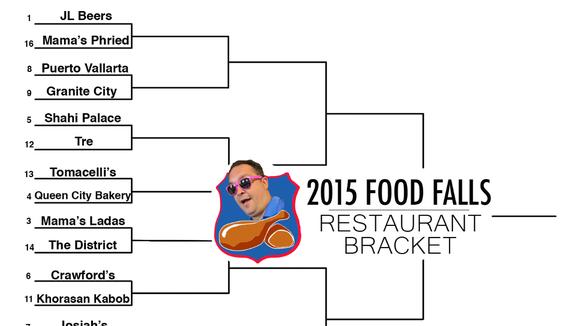 2015 Food Falls Restaurant Bracket Downtown Region.