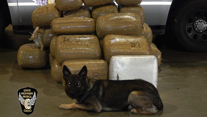 Highway patrol troopers seized about $3 million of marijuana in Clermont County Friday.