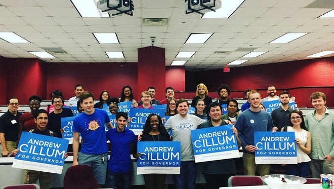 Students watched the Gillum vs. Corcoran debate with the FSU College of Democrats in the Bellamy building.