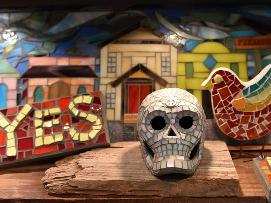 Haygood's love for Day of the Dead is reflected in her designs, which frequently feature skulls.