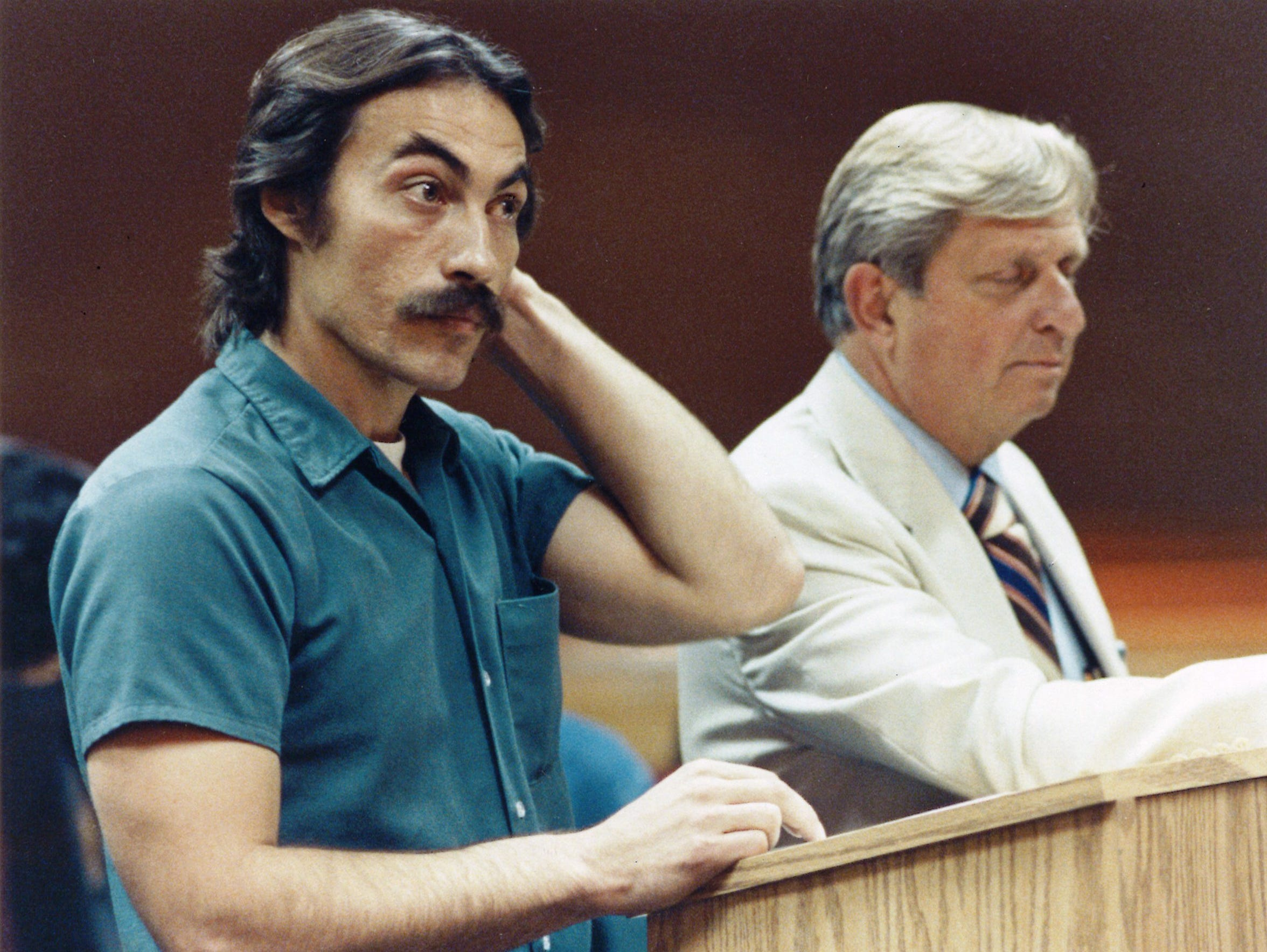 Richard Beranek is seen with his attorney, Archie Simonson,