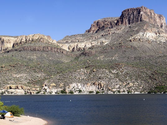 Officials flag fish in 3 arizona reservoirs for higher for Apache lake fishing