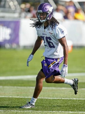 Trae Waynes is listed as a backup CB on the Vikings' fall camp depth chart.