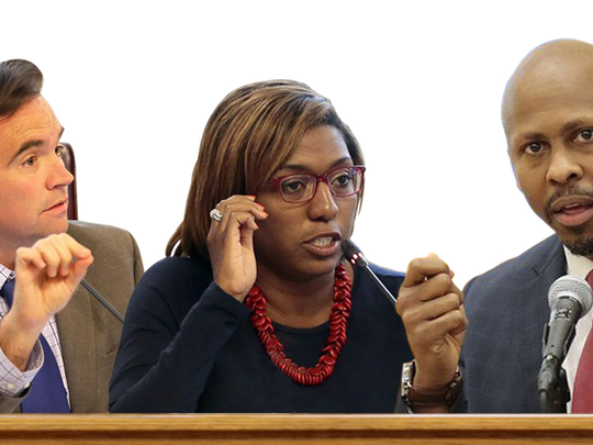 Mayor John Cranley, Councilwoman Yvette Simpson and Rob Richardson, Jr. are running for the office of mayor.